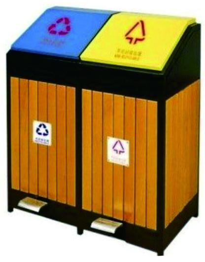钢木果皮箱(80×45×90cm)