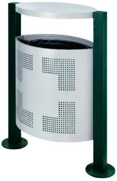 金属果皮箱(60×35×95cm)